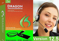 NEW v 12.5 Dragon NaturallySpeaking Home 12 HEADSET Vansonic USB