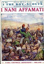 Jean De La Hire I NANI AFFAMATI  N° 54 =  I TRE BOY SCOUTS AVVENTURA