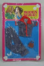 Barbie sized fashion Moden Schau clone fashion jeans set with brown handbag NRFB