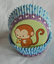 50pcs cute monkey cupcake liners baking paper cup muffin case standard size