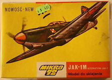 USSR Yakovlev Yak-1M, 1/72 Mikro kit S-02, Airplane Model Kit