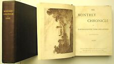 Joblot: set of 2 Monthly Chronicle North Country Lore & Legend 1890 & 1891