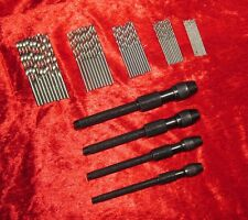 New 4Pc Pin Vice & 50Pc Micro Drills Craft Hobby Model & Jewelery Making Tools