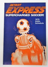 1979 DETROIT EXPRESS NASL SOCCER Flag's Restaurants pocket sked schedule MINT