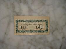 Billet d'Entrée pour l'Exposition Internationale des Art Décoratifs de 1925