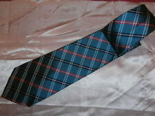 Lauren by Ralph Laurent 100 % silk Blue & Red Plaid Tartan Tie