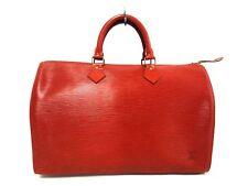 Auth LOUIS VUITTON Speedy 35 M42993 Kenyan Brown Epi VI1910 Handbag