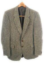 Stafford Ellinson HARRIS TWEED 42L Wool Sport Coat Hacking Jacket Herringbone
