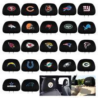 New 2pc Set NFL Pick Your Team Car Truck SUV Van Headrest Covers Automotive Gear