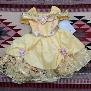 NWT Disney Store Belle Costume Baby 6-12M Beauty and the Beast Princess Dress