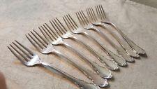 """8 Lunt Sterling Modern Victorian 6.25"""" salad forks No mono"""