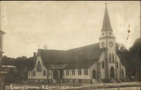 North Grosvenordale CT Church c1910 Real Photo Postcard