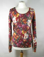 D&G DOLCE & GABBANA Floral Wool Jumper Size 44 UK 12 Pansy Print Immaculate
