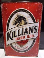 KILLIAN'S IRISH RED LAGER- EMBOSSED 3D METAL  ADVERTISING SIGN 30X20cm PUB