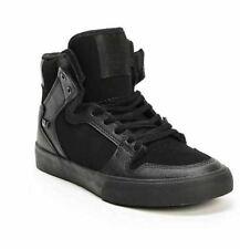 New Boys 3 Supra Kids Vaider Black High Top Skate Shoes Sneakers Nib