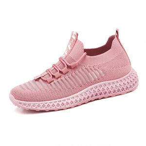 Women's Shoes New Casual Shoes Soft Bottom Low-Top Running Shoes Mesh Sneakers