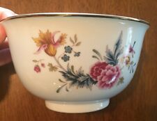 """Avon American Heirloom Independence Day 1981 6"""" Bowl w Flowers & Dragonfly"""