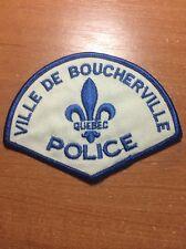 VINTAGE PATCH POLICE CANADA - VILLE DE BOUCHERVILLE - ( QUEBEC ) - ORIGINAL!
