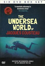 THE UNDERSEA WORLD OF JACQUES COUSTEAU - 6 DVD BOX SET - LIFE BENEATH THE SEA