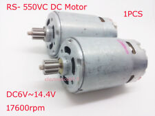 High Speed RS- 550VC DC Motor DC6V~14.4V 17600RPM for MABUCHI with Gear