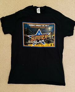 WWE 2017 SUMMERSLAM SUPERSTARS T-SHIRT BARCLAYS BROOKLYN NYC SIZE MEDIUM 8/20/17