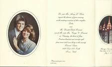 Donny Osmond Rare Original 1978 Invitation To His Wedding Lds Mormon Church