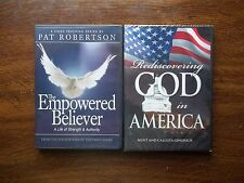 God In America Empowered Believer DVD US and Britain in Prophecy Free Book Lot