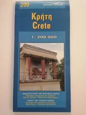 Road Editions Detailed Sheet Map of CRETE Island Greece , Excellent