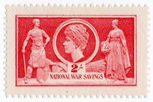 (I.B-CK) Cinderella Collection : National War Savings 2/- (Queen Mary)