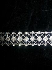 Art Deco design 14k white gold diamond bracelet.  8 in.