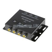 1 to 4 RCA AV Video Amplifier Splitter Booster for Car Vehicle LCD DVD Player