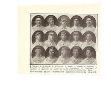 Monmouth Browns 1909 Team Picture Moxie Meixell Gus Williams Hosea Siner