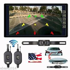 "Wireless Rear View Backup Camera Night Vision System +9"" TFT LCD TFT Monitor Kit"
