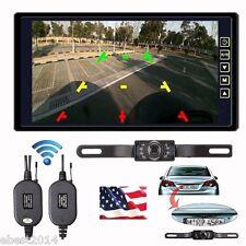 "Wireless Rear View Backup Camera Night Vision System +9"" TFT LCD TFT Monitor Kit"