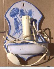 Applique lampe céramique faïence style Vallauris Biot signée Robert Deblander