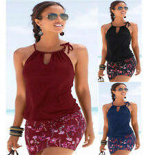 Women's Flowers Summer Dress Beach Dress Sexy Mini Dress Tunic Elastic Dresses