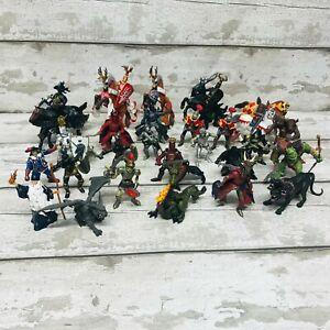 Papo Medieval Fantasy Knights & Monsters Figures Bundle Dragon, Cerebus & Wizard