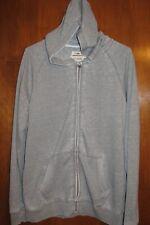 UNIONBAY Men's Large ZIP-UP HOODIE SWEATSHIRT (lightweight; gray) EUC
