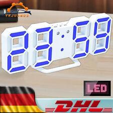 LED Moderne Wanduhr 3D Digital Wanduhr Tischuhr Snooze Timer 24/12Hr Wecker DHL