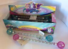 1 x BOX of 12 MAGICAL KINGDOM KIDS TWIRLING BATONS pink blue dance majorette