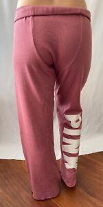 PINK Victoria's Secret VS Boyfriend Rose White Loose Pockets Sweatpants Small