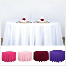 Round Table Cover For Wedding Party Tablecloth Solid Oil Proof Banquet Satin Z