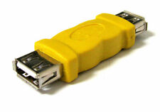 NEW USB 2.0 A FEMALE TO A FEMALE F-F Coupler ADAPTER CONNECTOR Yellow