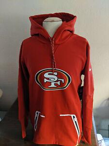 San Francisco 49ers Team Issued on-Field Nike Therma-Fit Hooded Sweatshirt Med