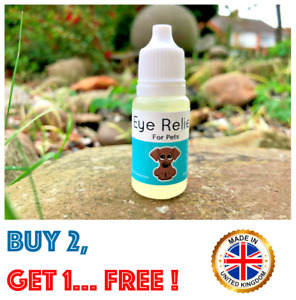 EYE RELIEF FOR PETS - Dog Eye Drops - Dry, Watery, Sore, Irritated, Sticky 10ml
