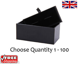 Quality Luxury Padded Cufflinks Gift Boxes Choose 1 - 100 Wholesale Prices!