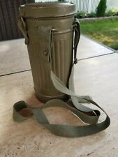 Original Ww2 German Army Gas Mask Canister Can Unit Soldier Straps