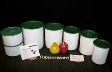 Tupperware 15pc HUNTER GREEN Canisters 5 8 8 12 17cups ~Coffee House ~NEW Scoop
