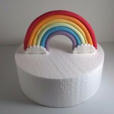 EDIBLE RAINBOW  CAKE TOPPER sugarpaste birthday christening