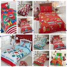 Bedding Heaven® FESTIVE CHRISTMAS DUVET COVER SET. Toddler Bed Size 120 x 150 cm